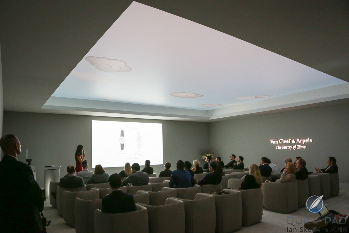 Clouds moving across the ceiling during the Van Cleef & Arpels press conference at the 2016 SIHH provided a clue as to the kind of watch replica in store