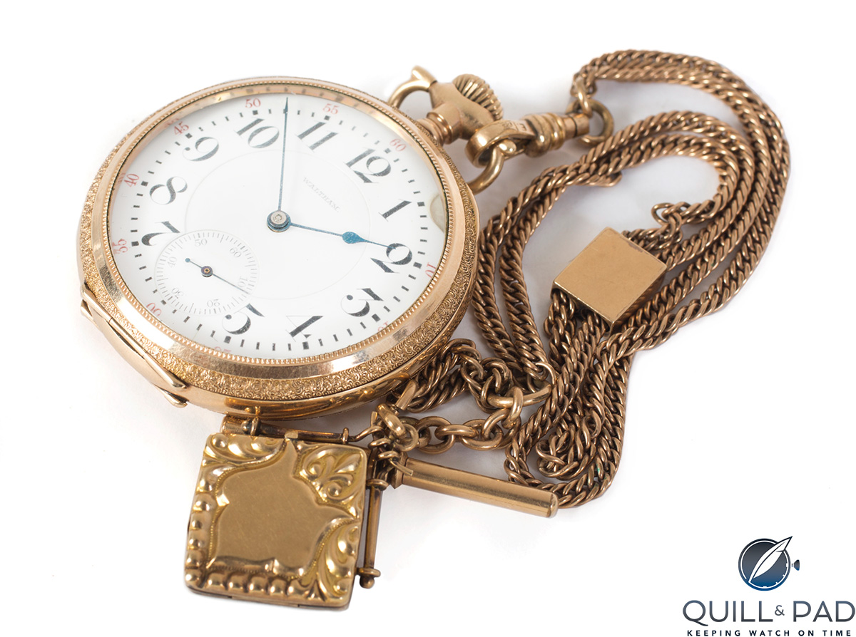 Waltham pocket watch replica once owned by Elvis Presley (