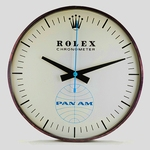 ROLEX - PAN-AM AIRLINES ELECTRIC WALL CLOCK evidenza