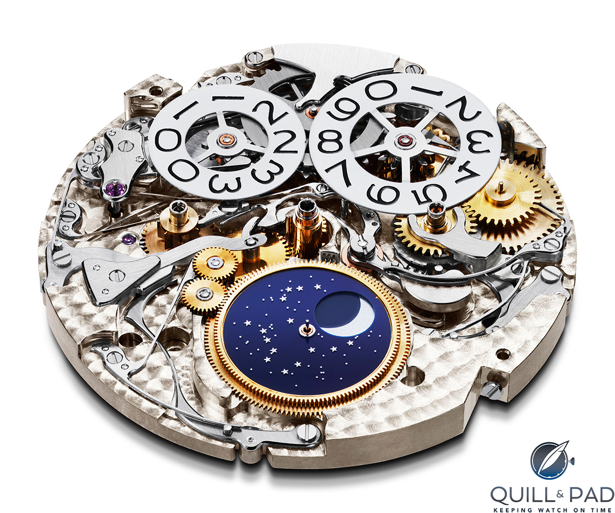 Dial side of the Chopard Caliber L.U.C. 03.10-L at the heart of the Perpetual Chrono