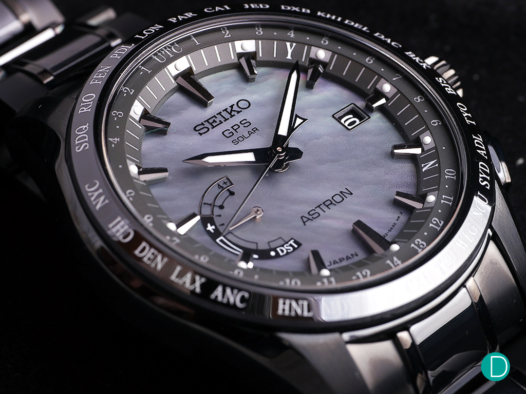 The Seiko Astron GPS Solar Worldtime SSE091 with the mother of pearl dial. 21c4da5dbc