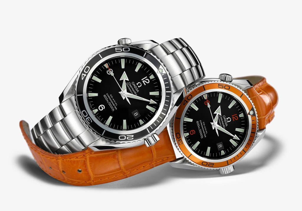 The Omega Seamaster Planet Ocean on the right is the same model on the wrist of Chef Neil Perry.