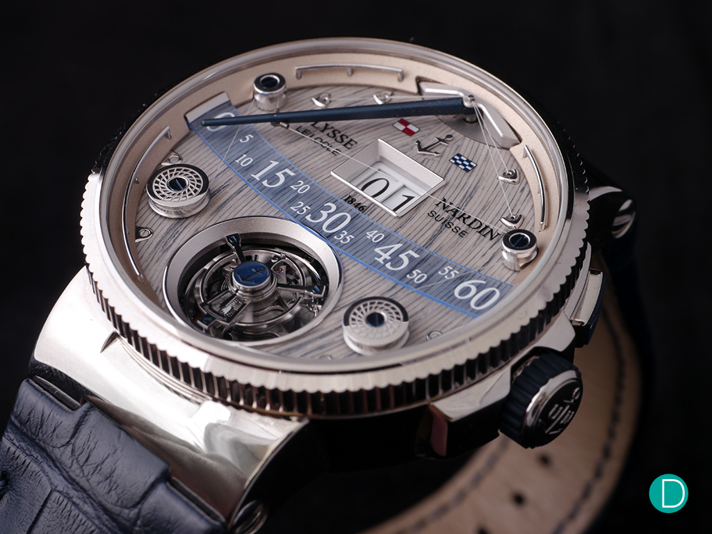 Ulysse Nardin Grand Deck Marine Tourbillon. Unique watch replica with unique time telling sytstem.