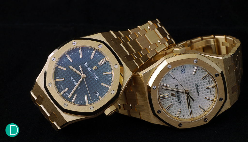 The recently announced Audemars Piguet Royal Oak 37mm Automatic in yellow gold, now in Singapore at the new Boutique.