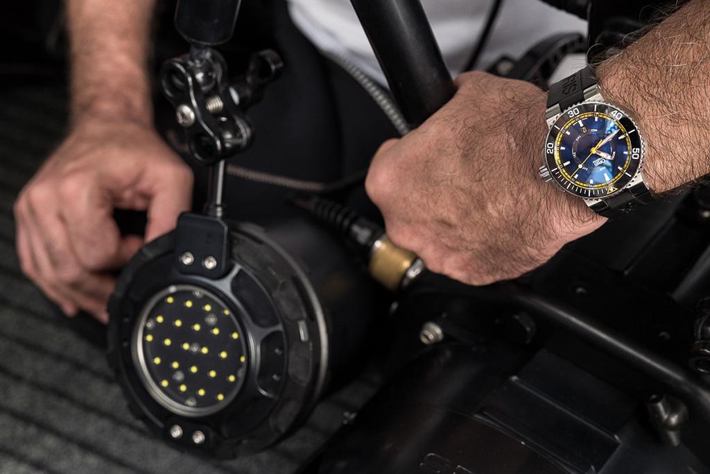 Wrist shot with the Oris GBR II.