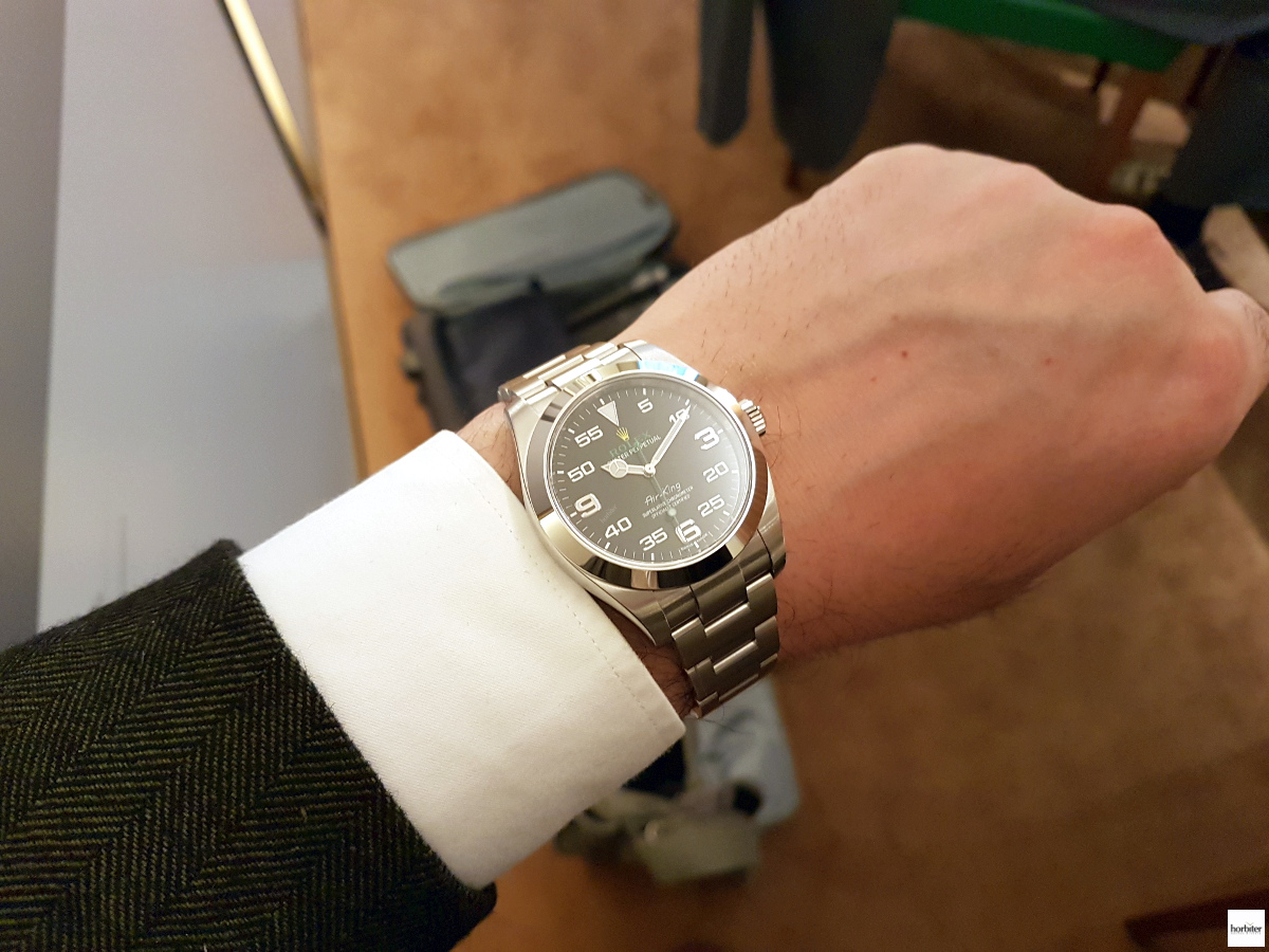 Rolex Oyster Perpetual Air-King on the wrist