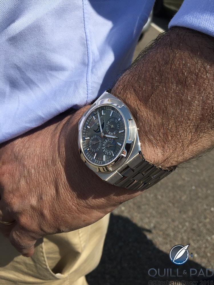 The Vacheron Constantin Overseas ultra-thin perpetual calendar on the wrist of CEO Juan-Carlos Torres