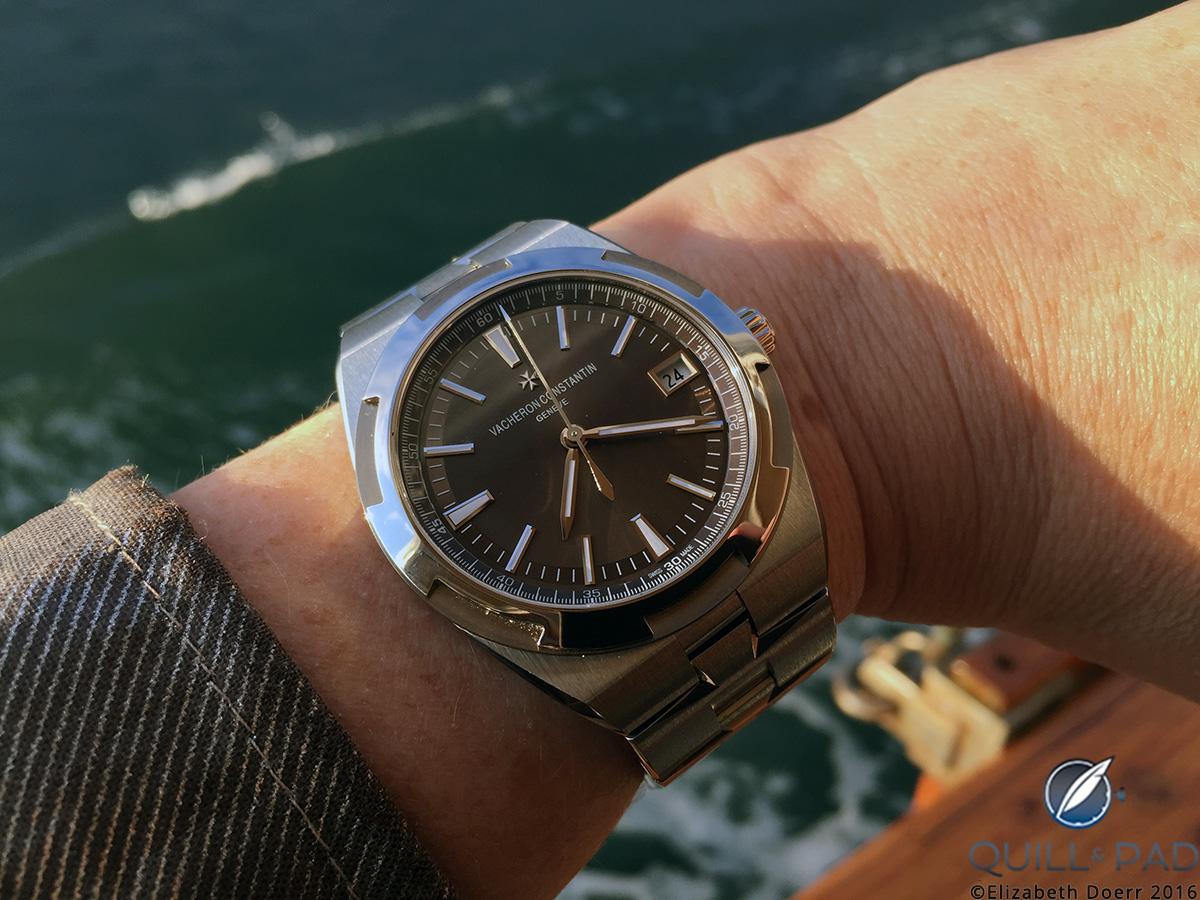 The Vacheron Constantin Overseas with a fashionable brown dial