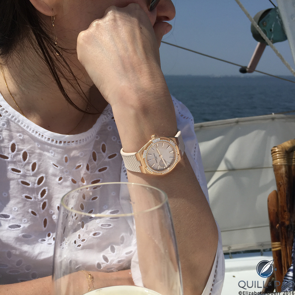 The Vacheron Constantin Overseas small model is perfect for the female wrist