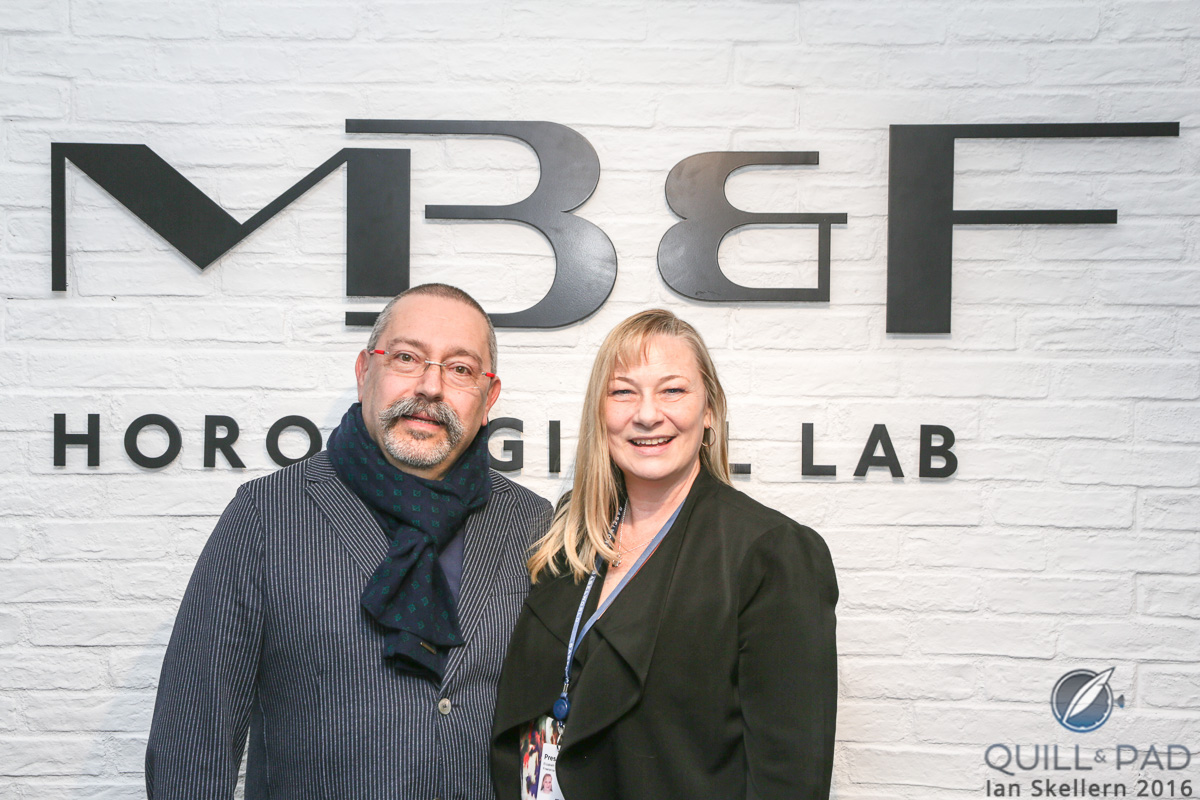 Alain Silberstein and Elizabeth Doerr at Baselworld 2016