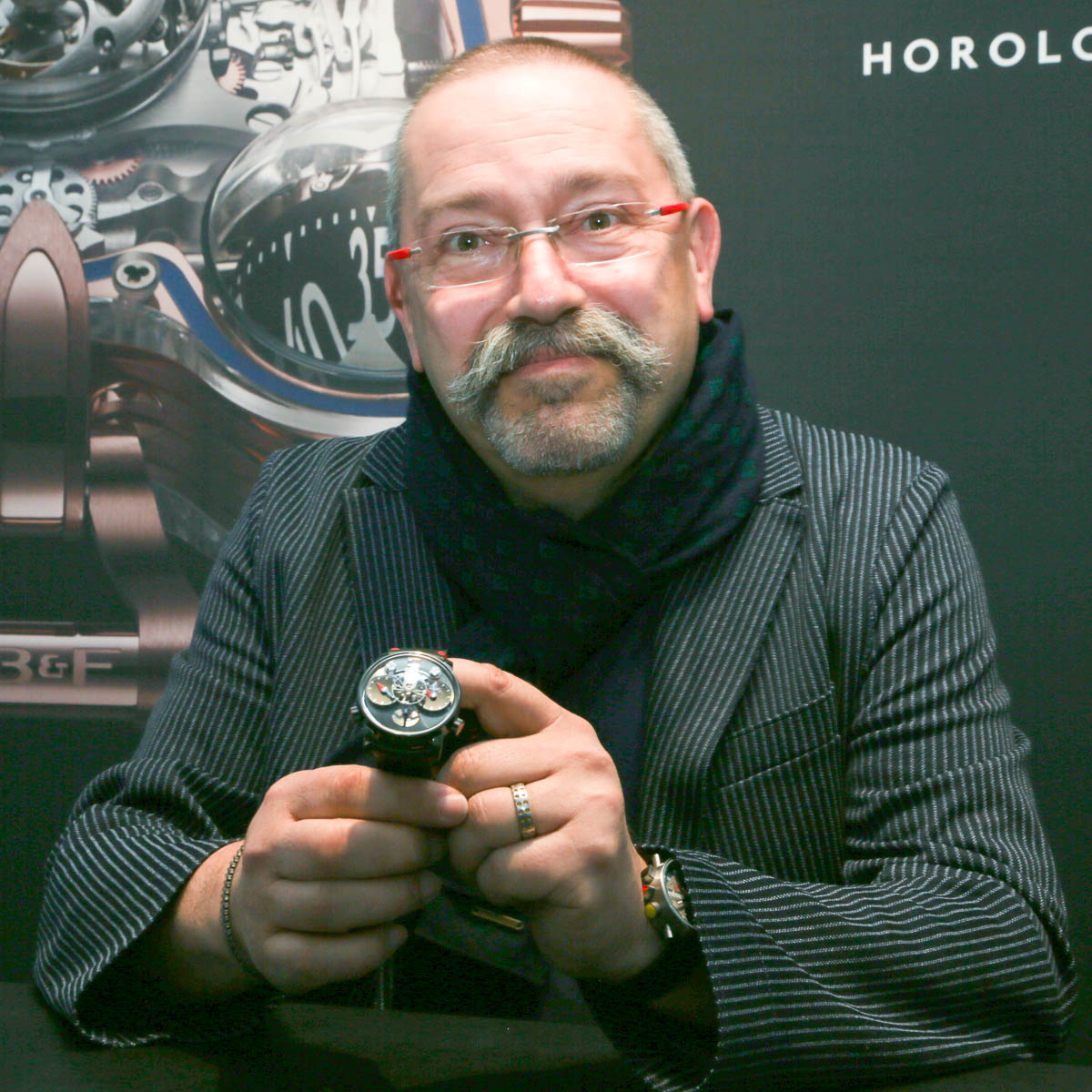 Alain Silberstein with LM1 Silberstein for MB&F