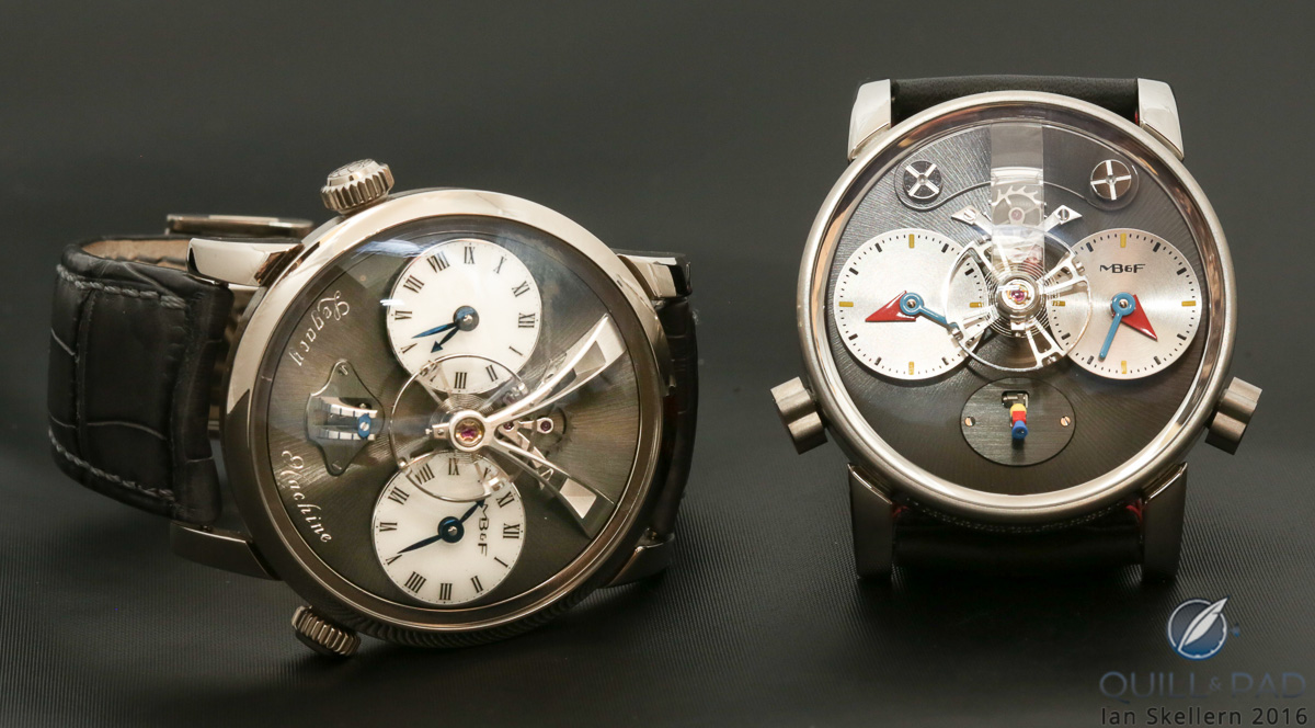 MB&F LM1 (left) and LM1 Silberstein