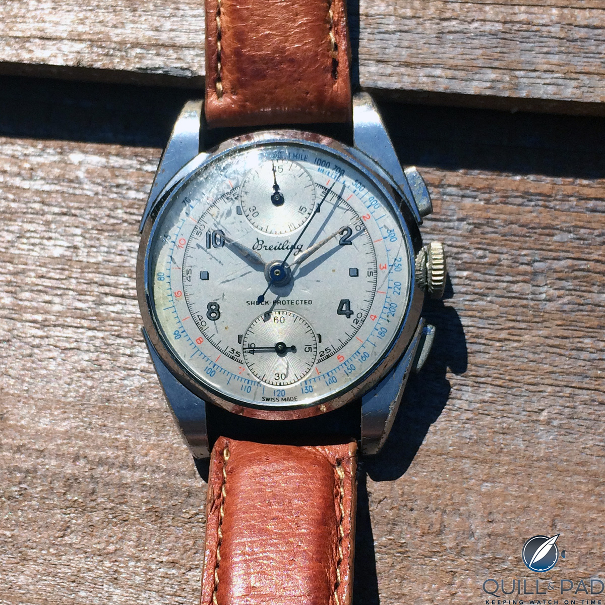 Grandpa's 1947 Breitling Reference 181, a cherished gift from my uncle