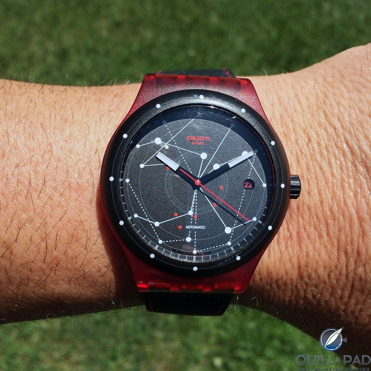 John Keil's Swatch Sistem51 was intended to be a good-luck charm