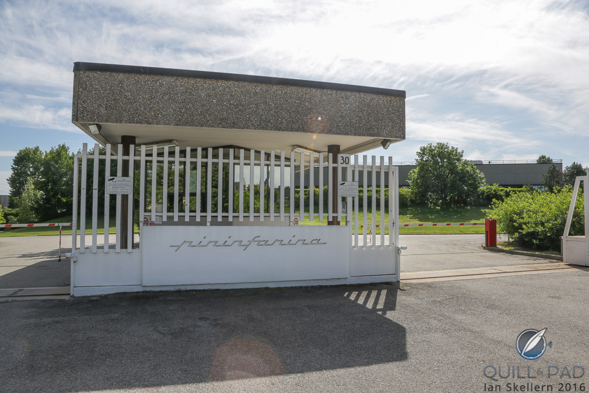 The entrance to Pininfarina in Cambiano, Italy