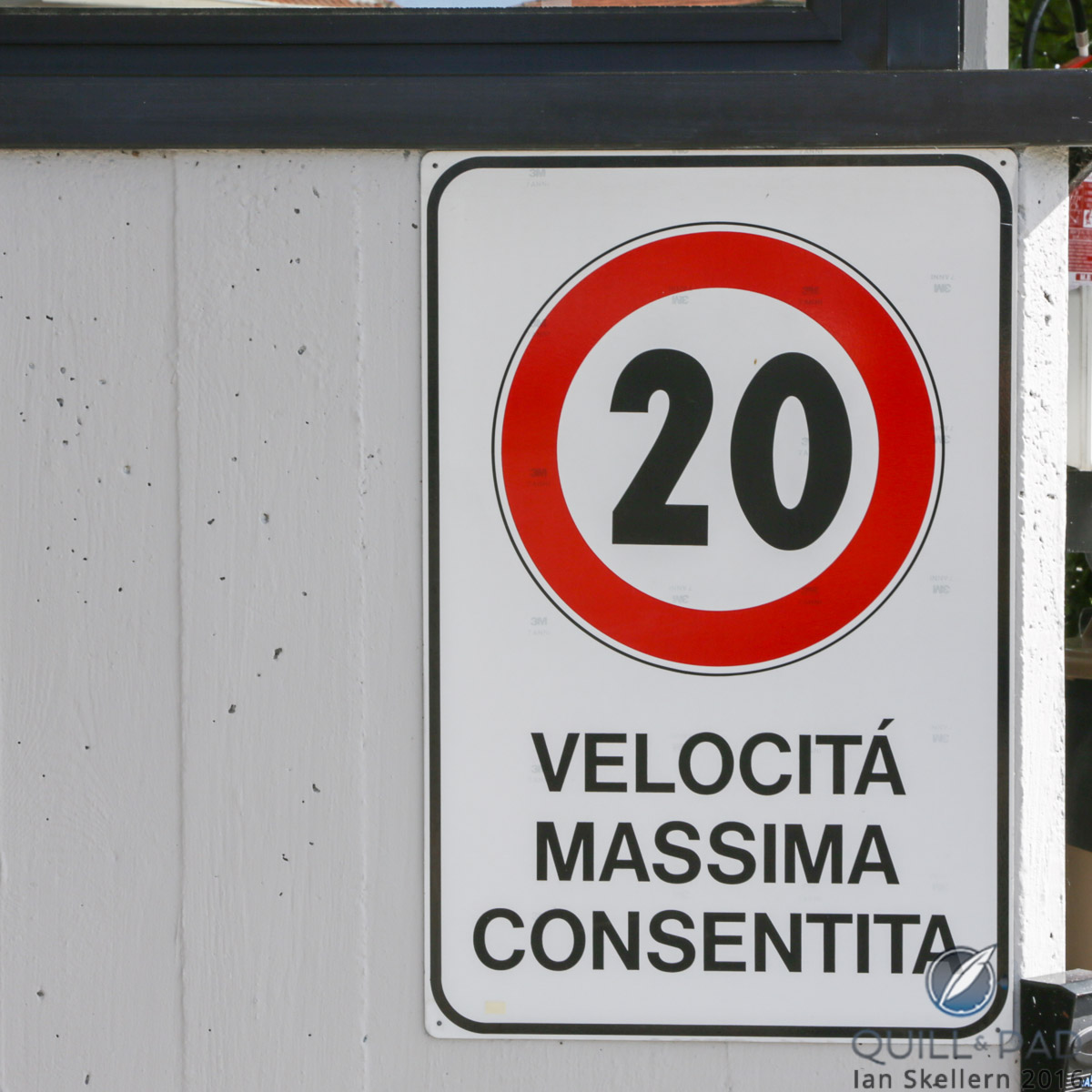 uite a restrictive speed limit in the home of the world's fastest supercars