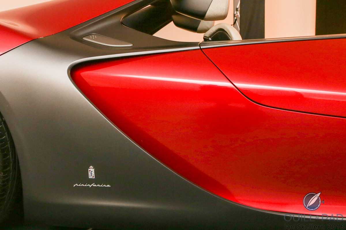 Exquisite lines of the Ferrari Sergio, a concept car from 2013