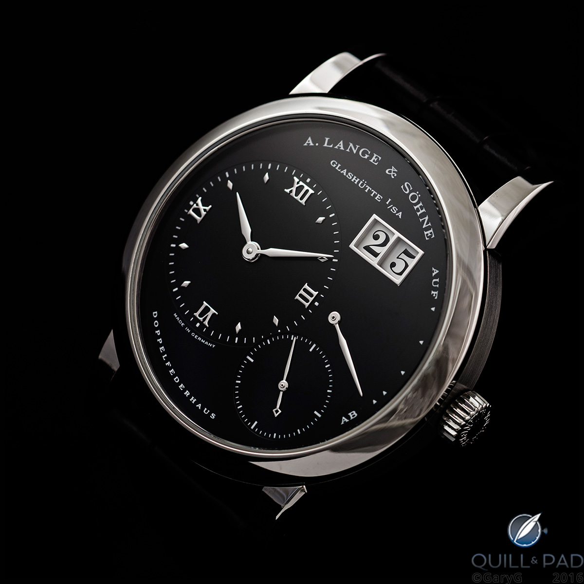 A. Lange & Söhne Lange 1 in stainless steel with black dial