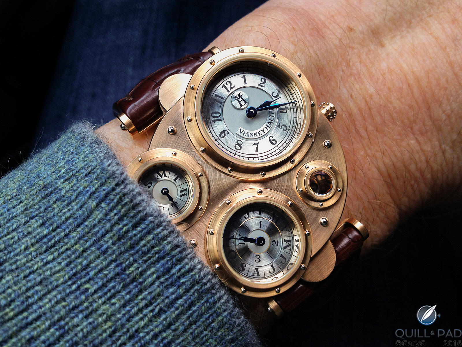 Foundational piece: the author's Vianney Halter Antiqua