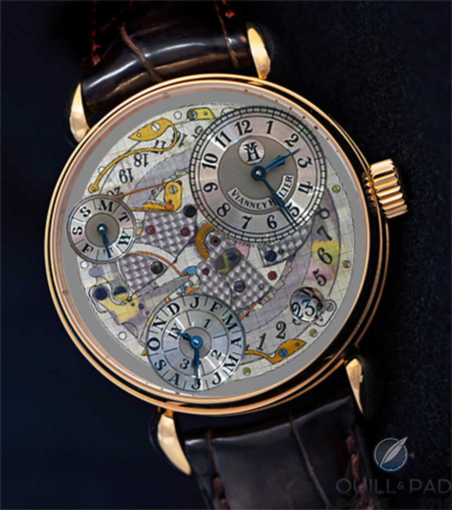 Rendering of a fantasy: round-cased Vianney Halter Antiqua