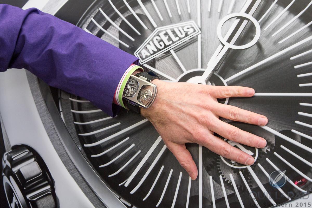 Angelus U10 Tourbillon Lumière on the wrist, wristshot