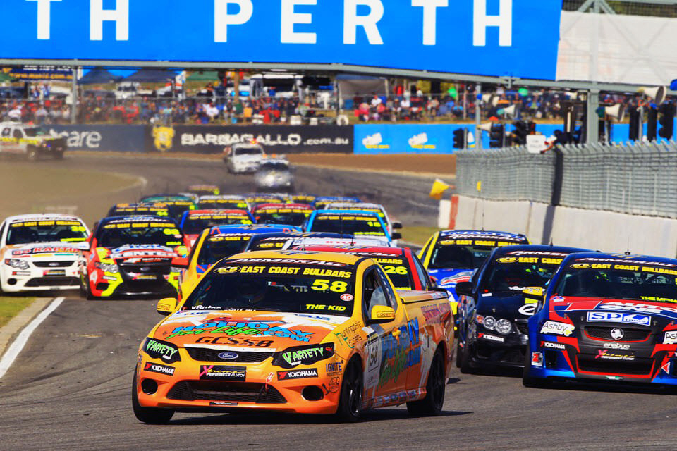 Australia V8 Utes racing in Perth