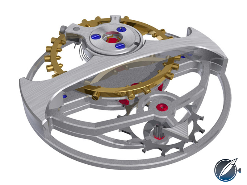 Computer image of the Arnold & Son UTTE tourbillon mechanism