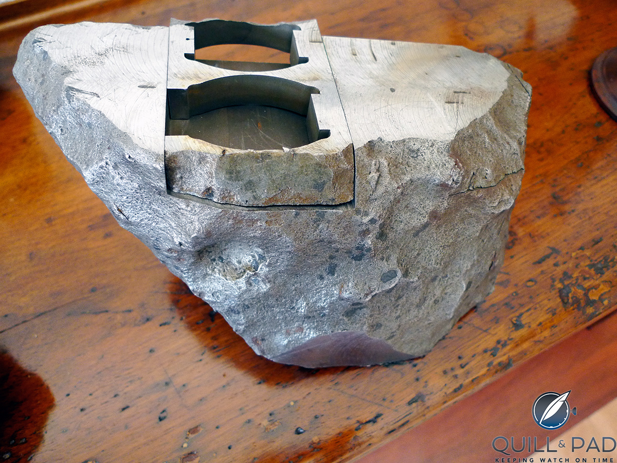 How to cut a watch replica case from a meteorite: Antoine Preziuso Stella Polare Tourbillon Muonionalusta