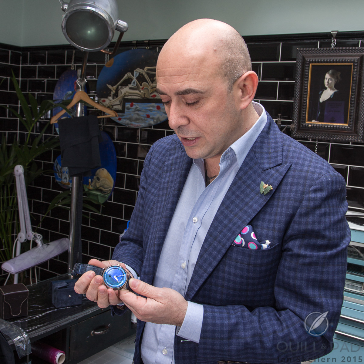 Mo Coppoletta with his De Bethune DB25L Starry Sky