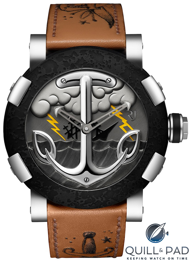 Mo Coppoletta collaborated in the design of the Romain Jerome Tattoo-DNA Sailor's Grave