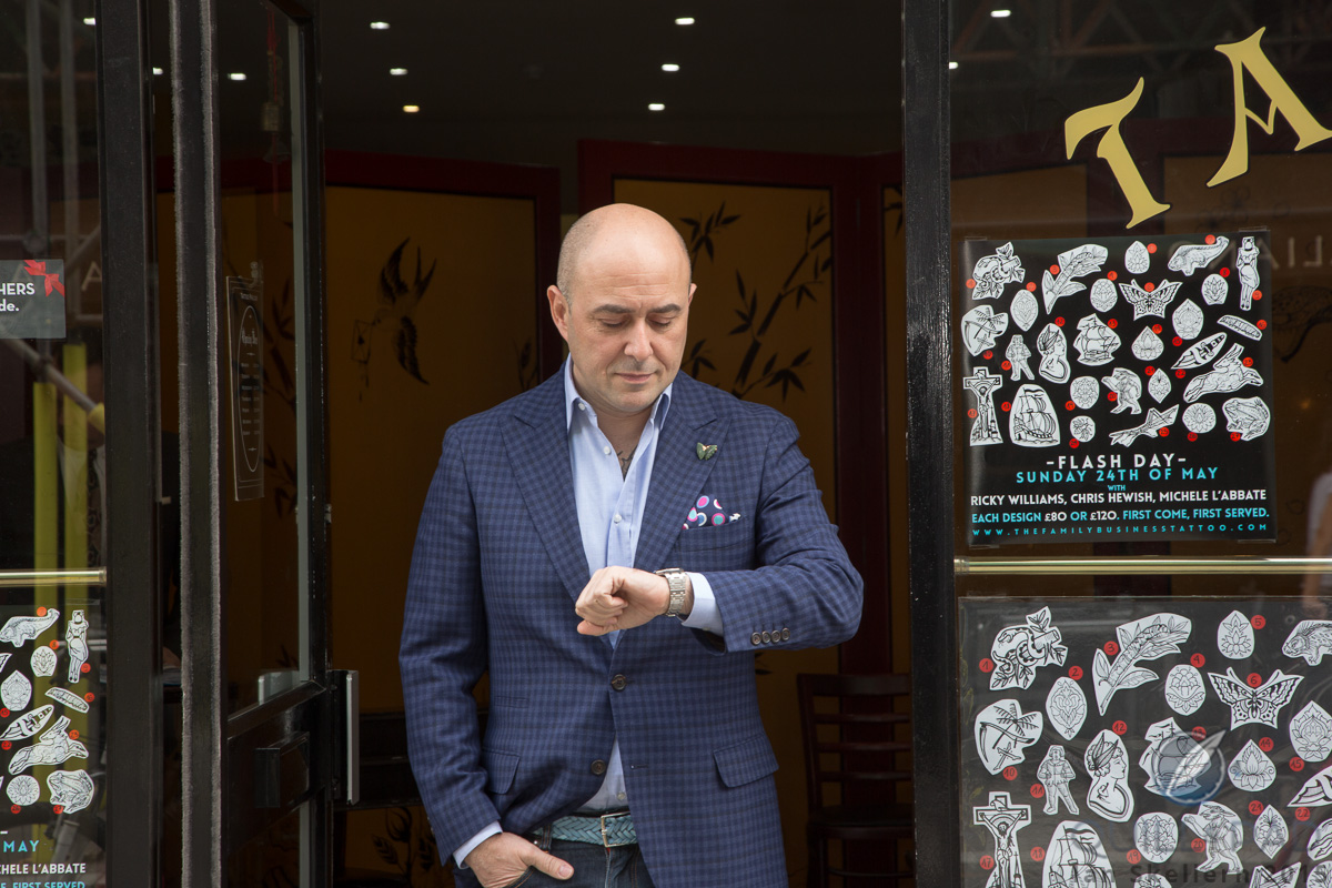 Mo Coppoletta outside The Family Business in Clerkenwell, London