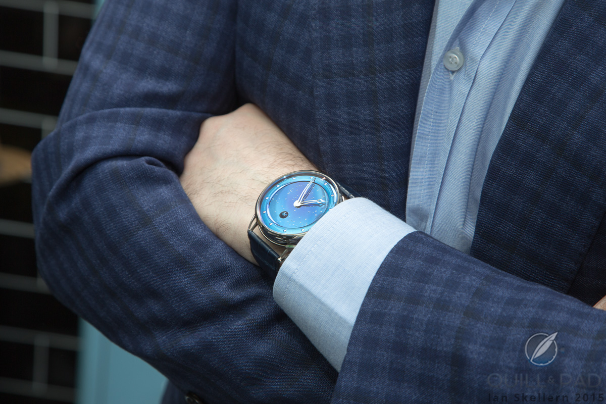 De Bethune DB25L Starry Sky on the wrist of Mo Coppoletta
