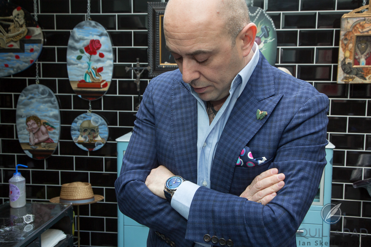Mo Coppoletta wearing his De Bethune DB25L Starry Sky