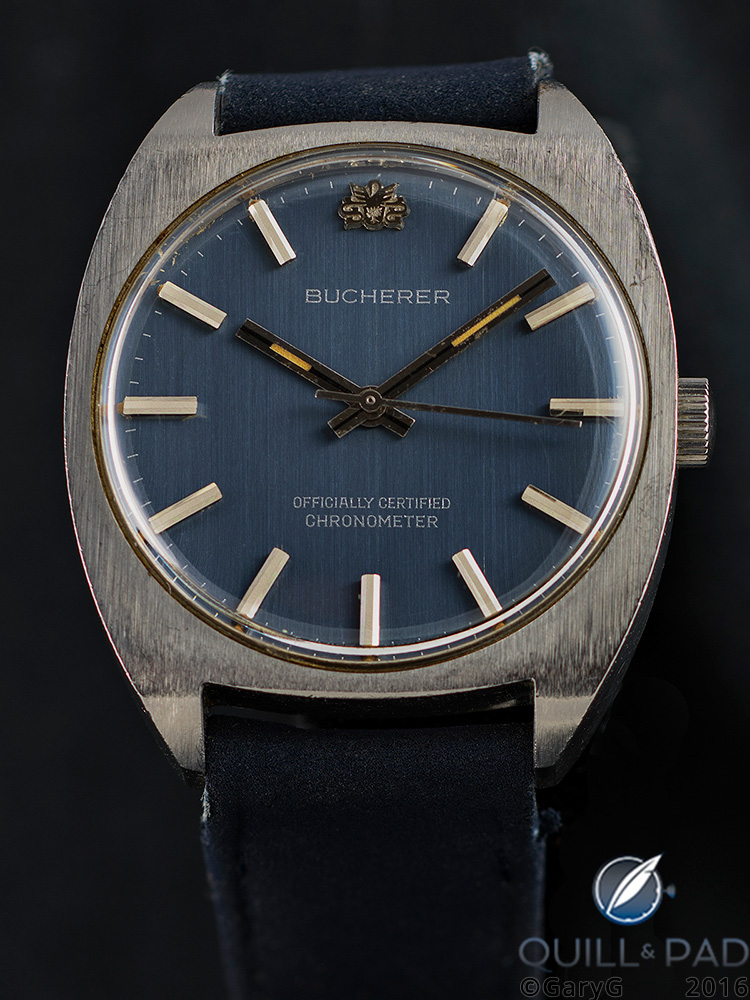 Frontal view of the author's Bucherer Chronometer