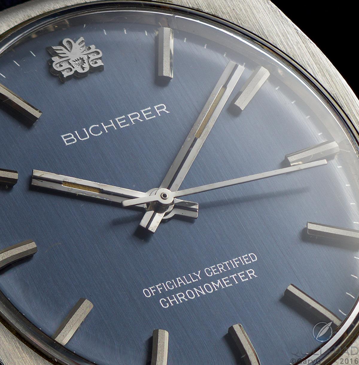 Dial detail, Bucherer Chronometer