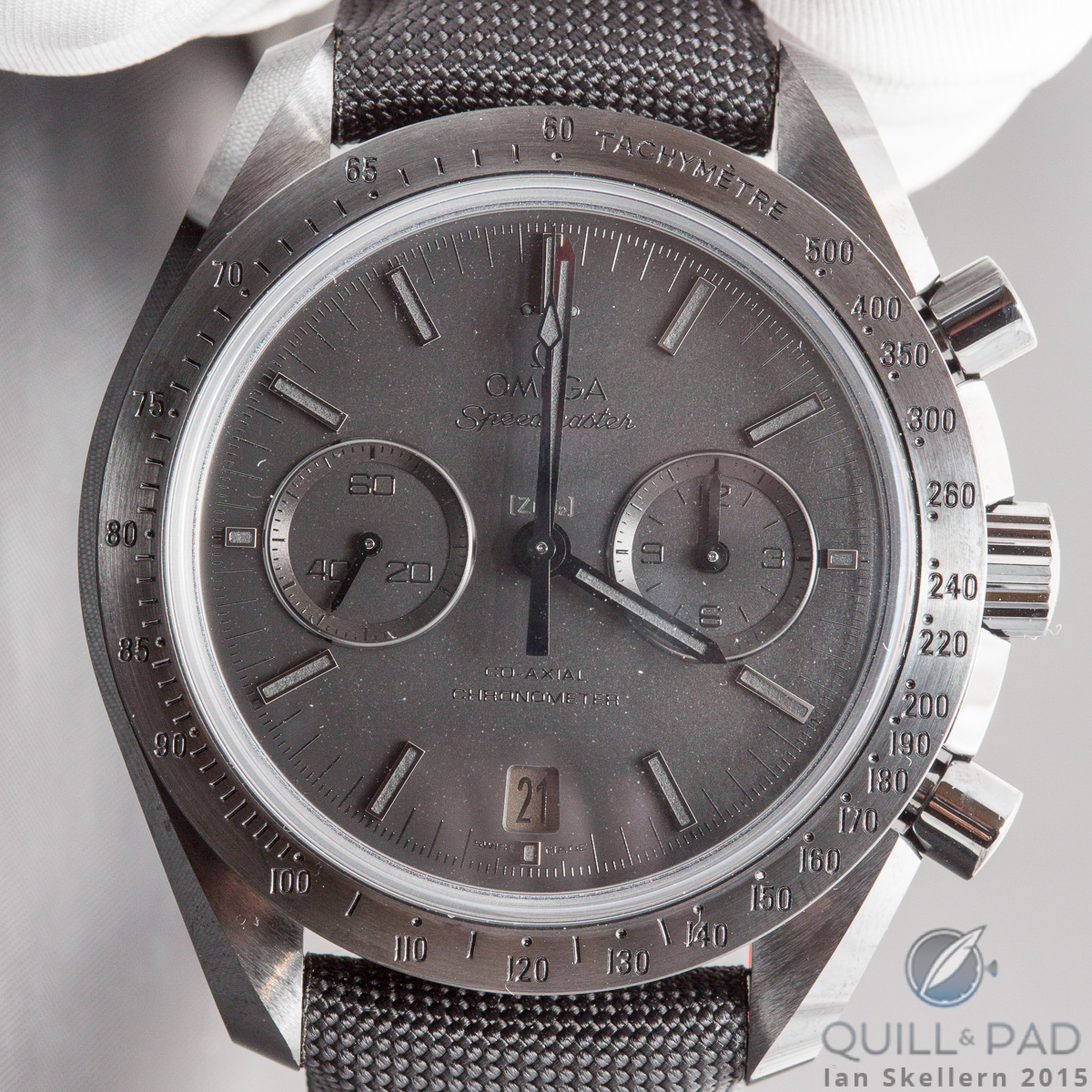 Michael Phelps also very much likes the Omega Speedmaster Dark Side of the Moon Black Black
