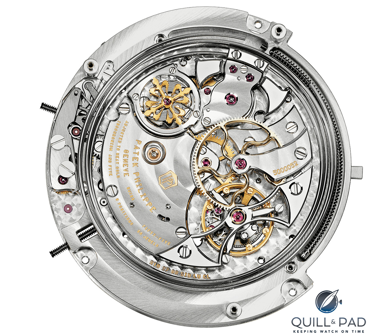 Movement of the Patek Philippe Sky Moon Tourbillon