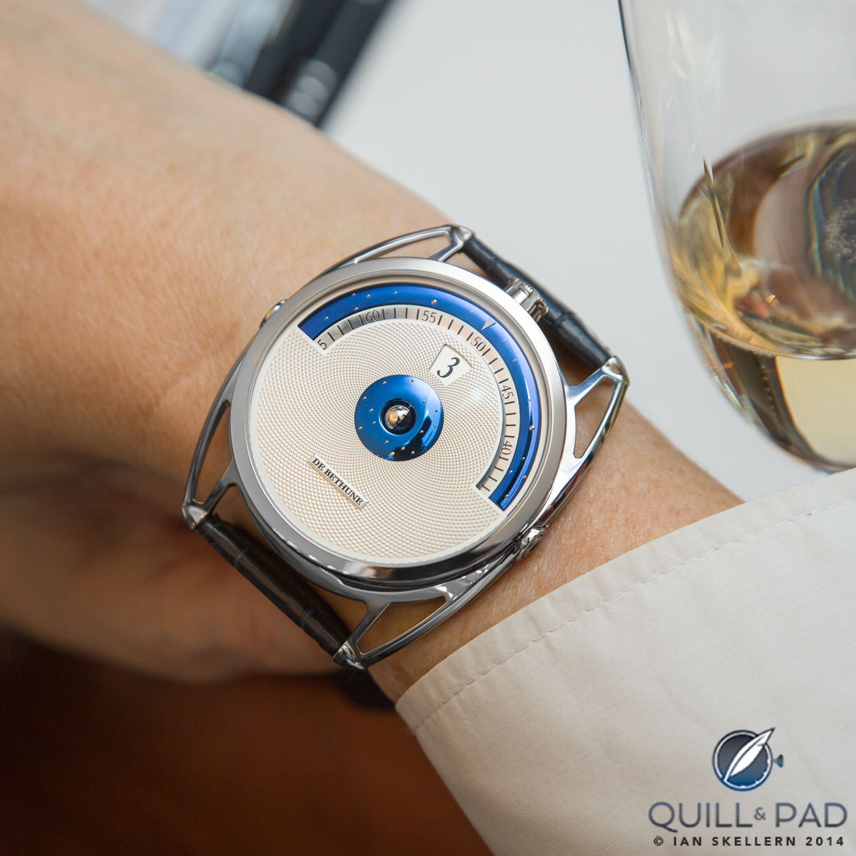 De Bethune DB28 Digitale on the wrist