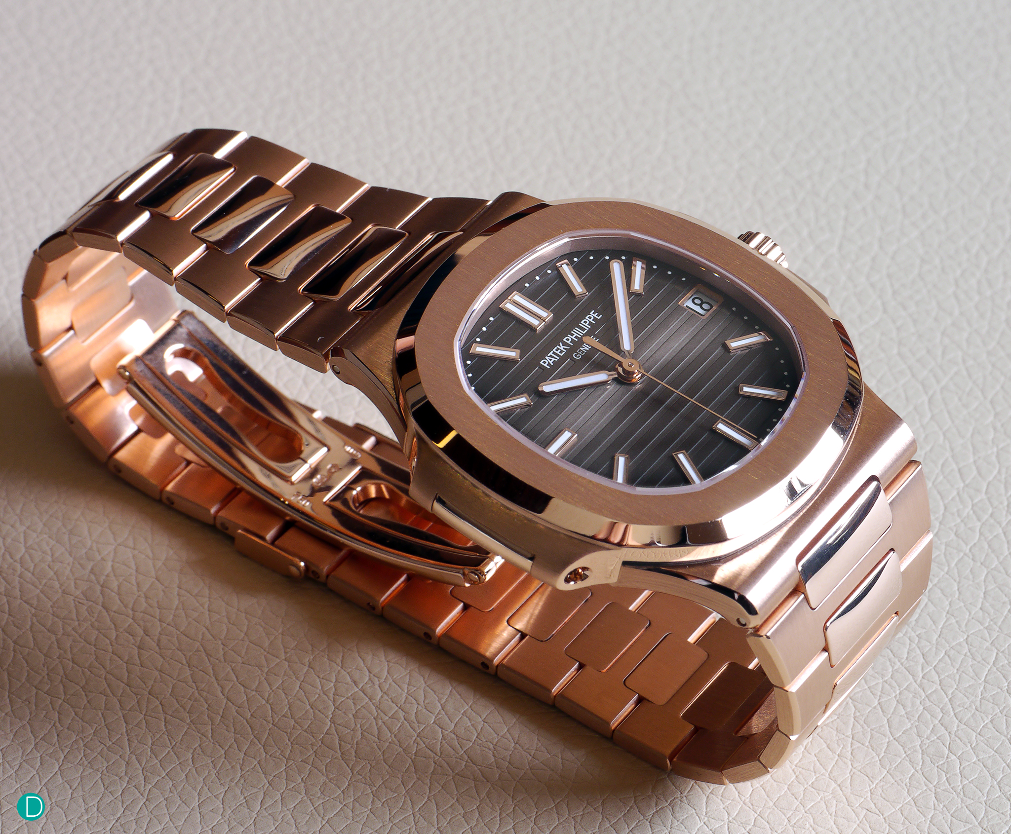 The Nautilus, Reference 5711, in rose gold.