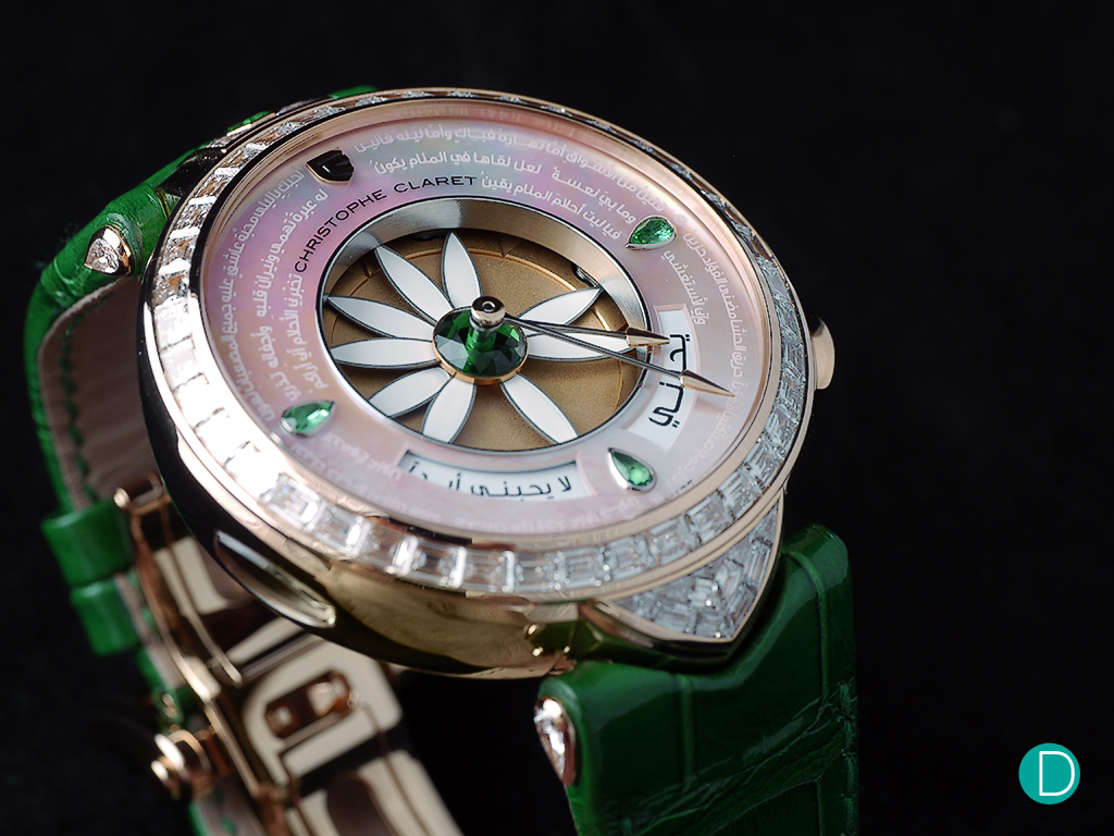 "The design and concept of the watch replica was inspired by one of the most famous questions of all: ""Does he love me?"""