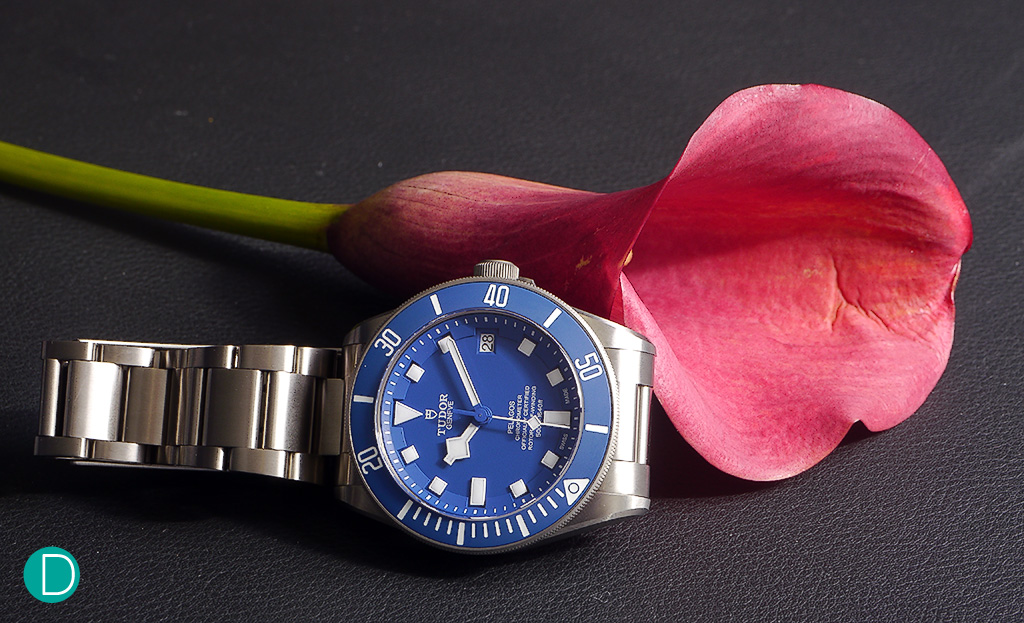The Tudor Pelagos, in blue with an all-new in-house movement.