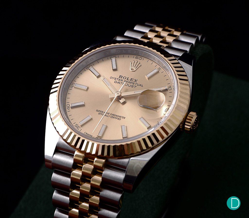 The newly released Rolex Datejust 41, fitted with the iconic two-toned Jubilee bracelet.