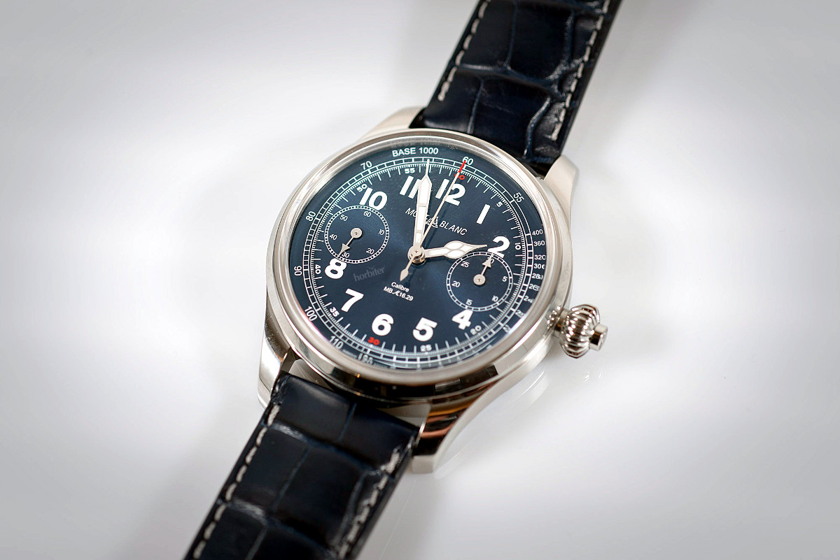 Montblanc 1858 Chronograph Tachymeter Blue Limited Edition 100 due