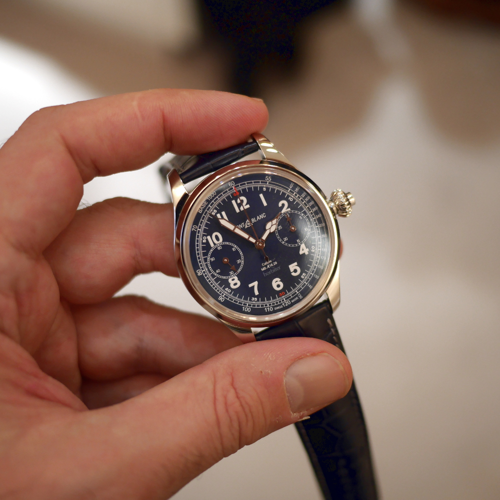 Montblanc 1858 Chronograph Tachymeter Blue Limited Edition 100 sei