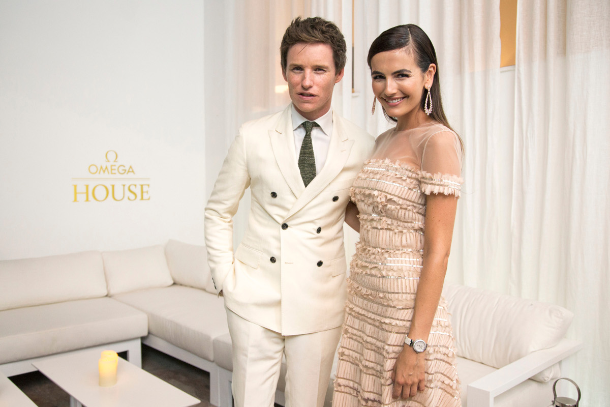 Eddie Redmayne and Camilla Belle Omega House Rio 2016
