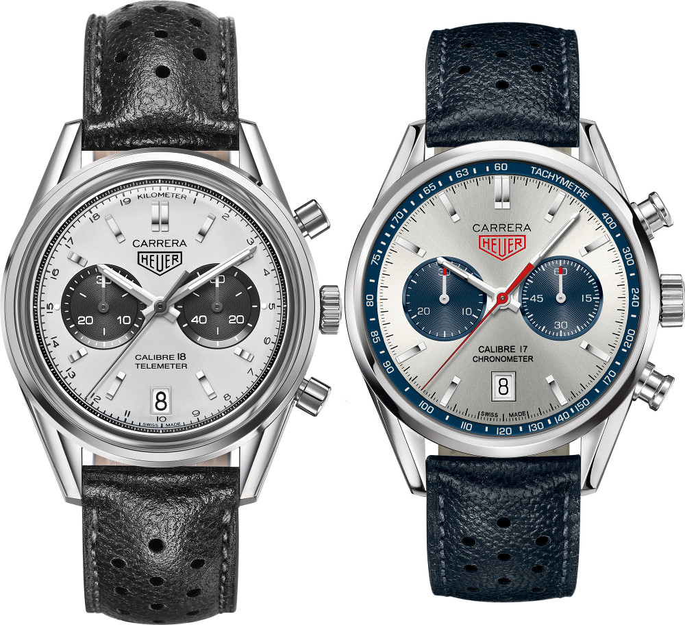 Heuer_Carrera_Calibre_18_and_Calibre_17_comparison