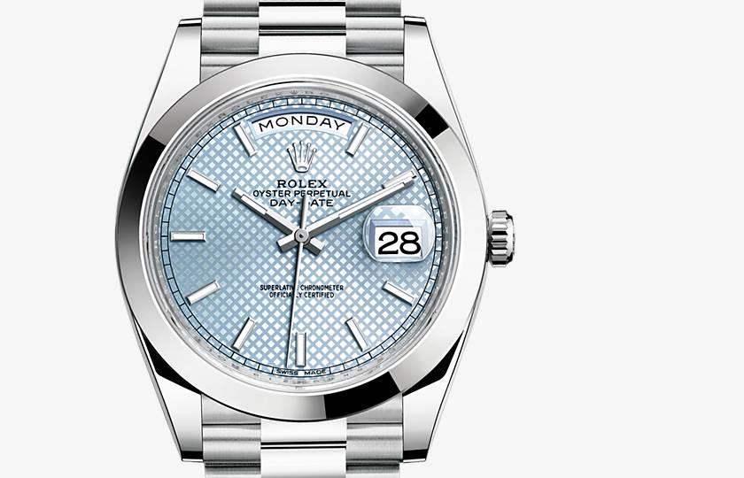 Rolex Day-Date Ice Blue Dial 40 mm Replica