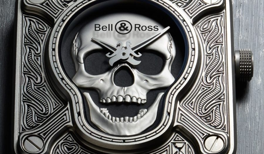 "High Quality Bell & Ross BR 01 ""Burning Skull"" Talisman Replica Watch"