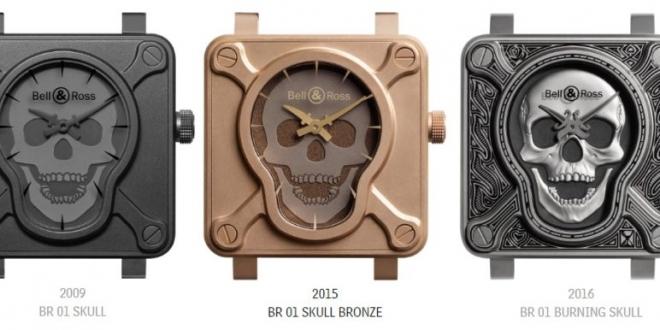 "Bell & Ross BR 01 ""Burning Skull"" Talisman Replica Watch"