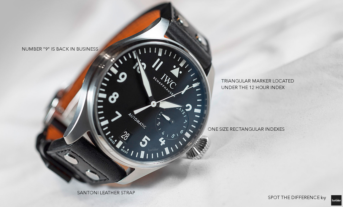 IWC Big Pilots Watch IW500912 spot the difference by Horbiter